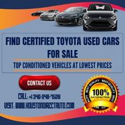 Find Toyota Certified Pre Owned Vehicles At Lowest Prices